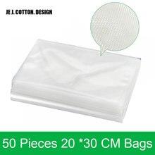 Вакуумные пакеты для упаковщика, пакеты для пищевых продуктов с толстой зернистой поверхностью, 50 шт./лот 20*30 см