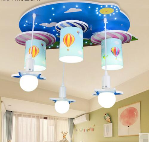 Creative cartoon hot air balloon Pendant Light children room lights men and women bedroom lights warm led lighting TA92110 hghomeart kids led pendant lights basketball academy lights cartoon children s room bedroom lamps lighting