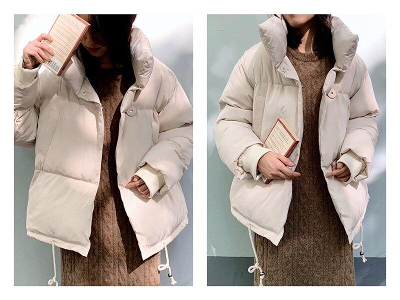 CamKemsey Thicken Women Parkas 18 New Casual Turtleneck Loose Down Jacket Female Warm Cotton Padded Winter Coat Women 9