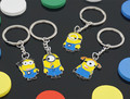 1PCS New Arrivals Despicable Me Key Chain Cartoon Minions Keychain Key Ring Chaveiro Christmas Gift