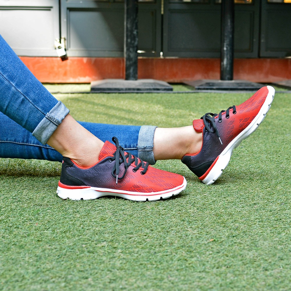 QANSI New Gradually Changing Color Women Running Shoes Spring Autumn Breathable Shoes Outdoor Sport Sneakers For Female 1678W 22