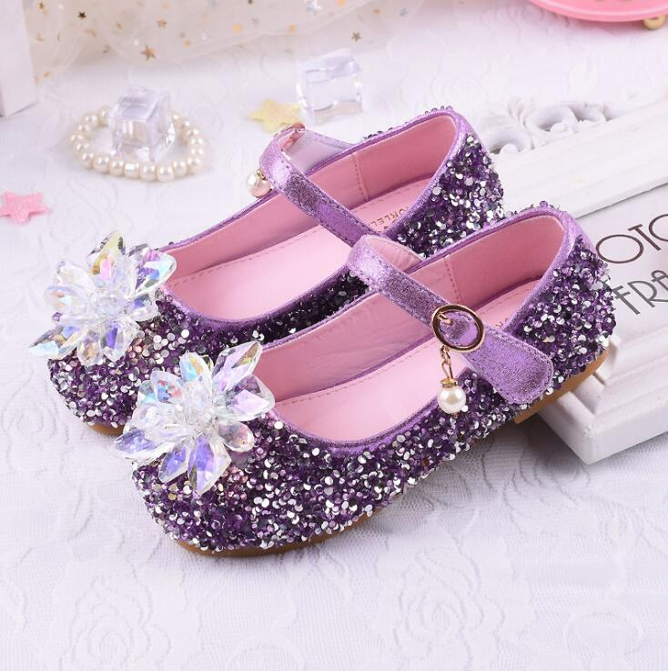 Girls single bling Rhinestone shoes spring autumn children s shoes  Paillette Cinderella princess flat shoes 339- 79f38e85576b