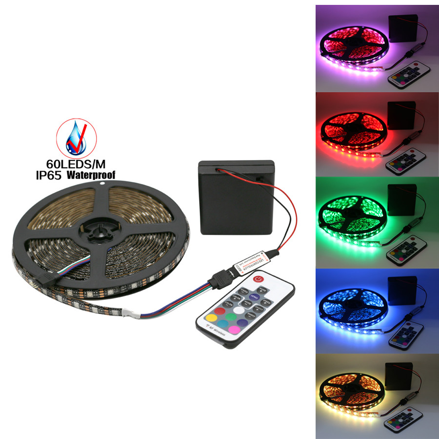 5V RGB Led Strip 5050 Waterproof Non Waterproof Battery Operated Backlight TV Fita de Diode Stripe