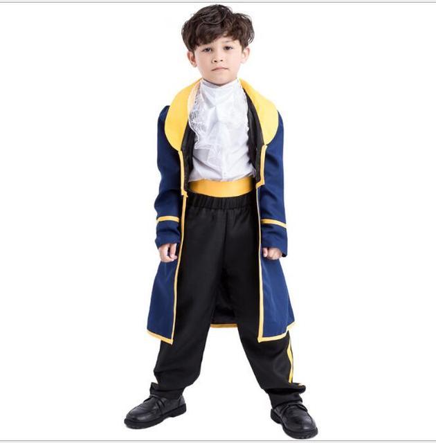 weich und leicht großer Abverkauf tolle Passform US $27.55 |Walson Kinder Schönheit und das Biest Kostüm set Cosplay  prinzessin Belle kleid und Das Biest Prinz kostüm Für Kind in Walson Kinder  ...