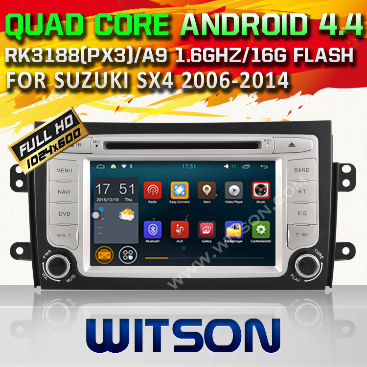 WITSON Qual Core font b Android b font 4 4 4 CAR DVD GPS for SUZUKI