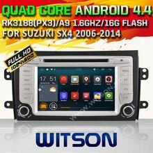 WITSON Qual-core Android 4.4.4 COCHE DVD GPS para SUZUKI SX4 car stereo pantalla táctil Capacitiva 16 GB Rom Enlace Espejo Libre gratis