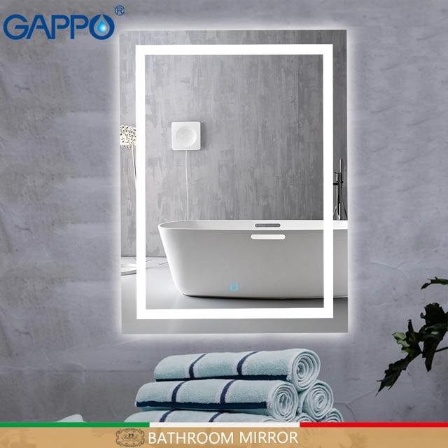 Glamo bath LED mirrors Light Makeup Mirror lights Bathroom mirrors rectangle