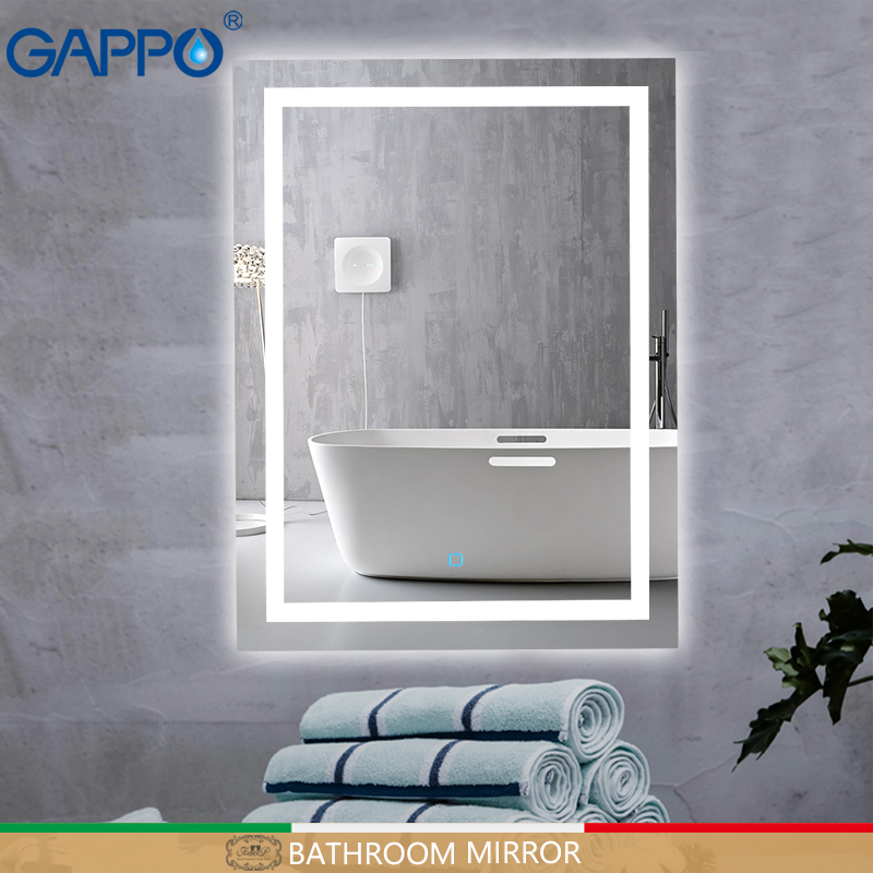 Gappo de bain led miroirs miroir de maquillage lumineux lumières miroirs de salle de bain rectangle