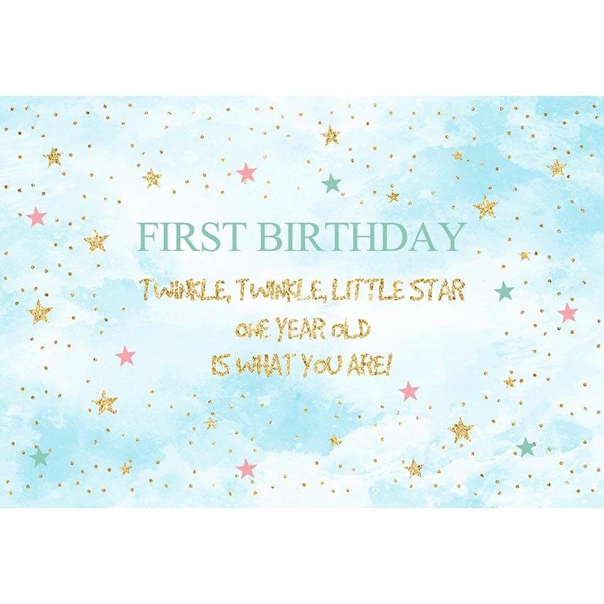 Vinyl little star blue birthday party Photo Background Photography Backdrops for children newborn Photo Shoot Studio g-750