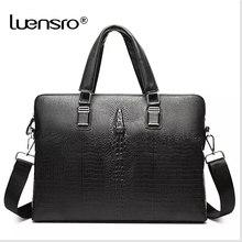 38900657f0b5c Marka Tasarım laptop çantası Doğal Cowskin erkek Iş Çantası Evrak Çantası  Moda Hakiki Deri omuz askılı postacı çantaları Timsah