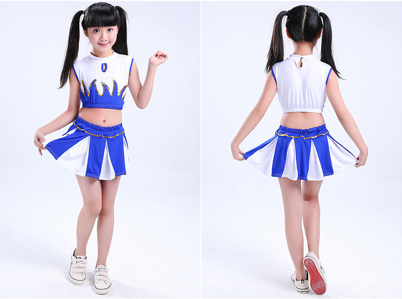 Children's Dance Costumes Cheerleading Costumes Kids Cheerleading Costumes Students Cheerleading Dance Costumes Boys Girls Style