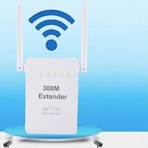 Image 1 - 300 mbps 무선 릴레이 새로운 듀얼 안테나 듀얼 네트워크 포트 무선 wifi 신호 증폭기 무선 ap