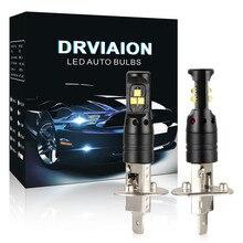 2 uds Auto lámparas LED para coches luces antiniebla LED para coche H1 80W bombilla LED de luz antiniebla lámpara de conducción de coche DRL 6500K blanco de alta potencia