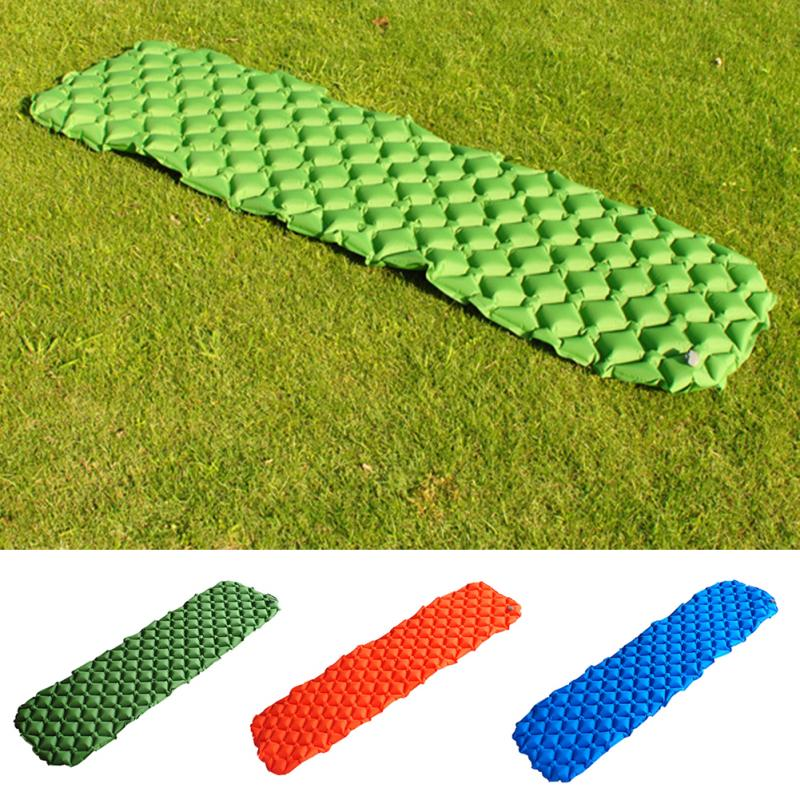все цены на Air Mattress Outdoor Moisture-proof Sleeping Mat Camping Tent Supplies Inflatable Bed for Tent Portable Ultralight Sleeping Pad онлайн