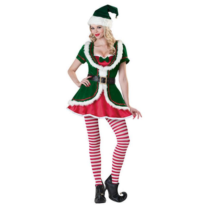 ... Adult Santa Claus Costume Suit Plush Father Fancy Clothes Xmas Cosplay  Props Men Christmas Prestigious Womens ... 7f8639e5e