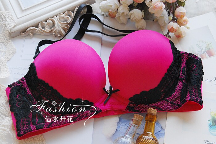 luxury secret women bra set deep V push up lingerie Sexy lace bra & brief underwear set for ladies(10)