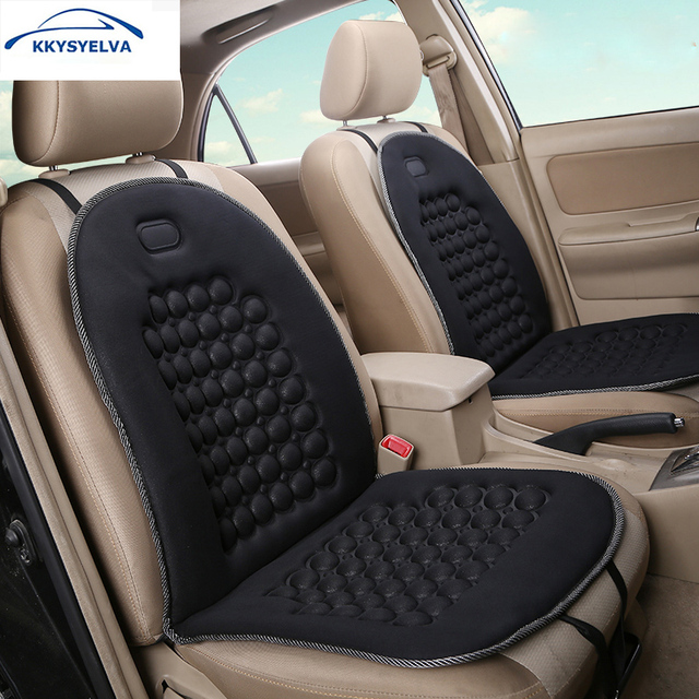 KKYSYELVA Car Seat Cushion Cover Massage Auto Truck Vehicle Driver Covers Universal Styling
