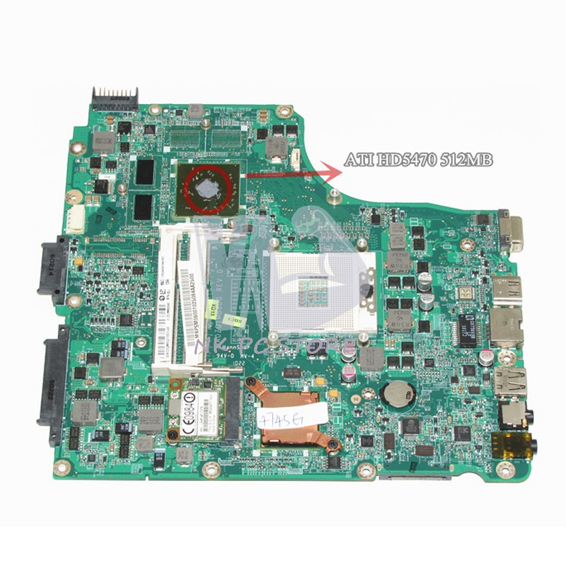 MB.PSM06.001 MBPSM06001 For Acer aspire 4745 4745G Laptop Motherboard HM55 DDR3 ATI HD5470 512MB Discrete Graphics nokotion mainboard for acer aspire 5738 laptop motherboard ddr2 ati hd4500 video card mbpke01001 mb pke01 001 48 4cg07 011