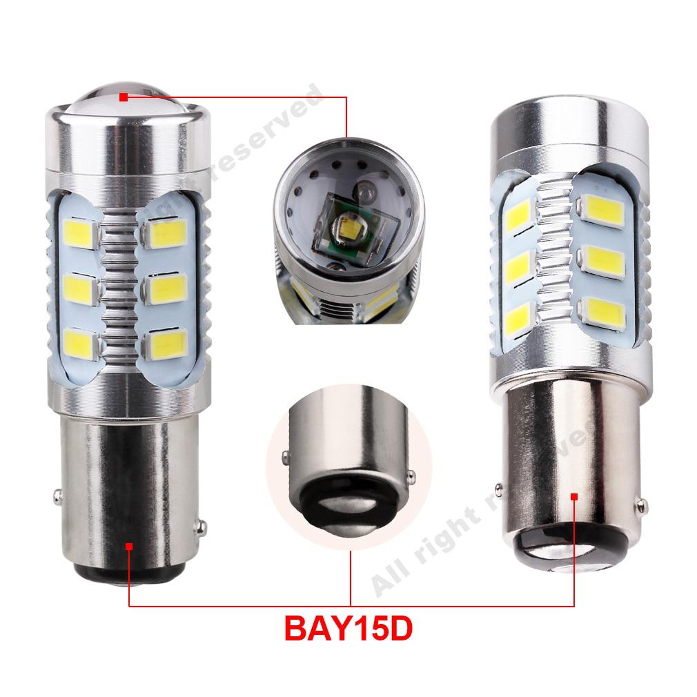1157 BAY15D лампы светодиодные чипы высокой Мощность лампы 21/5w светодиодная лампа автомобиля стоп сигналы источник парк Белого красного и желтого цвета 12 V-24 V D035
