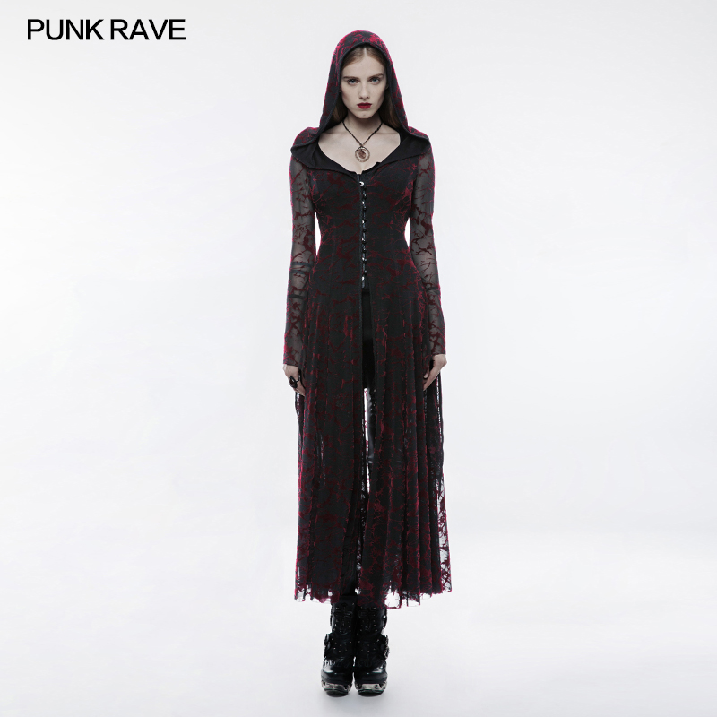 Gothic flame long Dress WY836