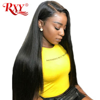 Pre Plucked Full Lace Front Human Hair Wigs For Women RXY Full Lace Human Hair Wigs With Baby Hair Brazilian Wig Non Remy Black