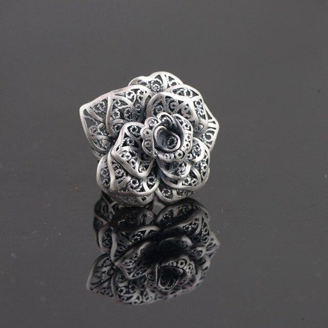 Anillo de plata esterlina S990 de filigrana de plata mujer floreciente nuevo  regalo bae15a7fc14