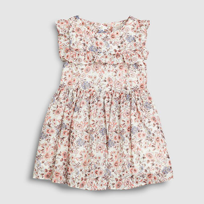 Little Maven 2021 New Summer Baby Girls Clothes Brand Dress Kids Cotton Animal Leopard Fruit Flower Print Sleeveless Dresses 4