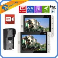 7 inch Video Doorbell Touch Monitor Intercom Outdoor Camera Night Vision Unlock Intercom System SD Record Support CCTV Cameras