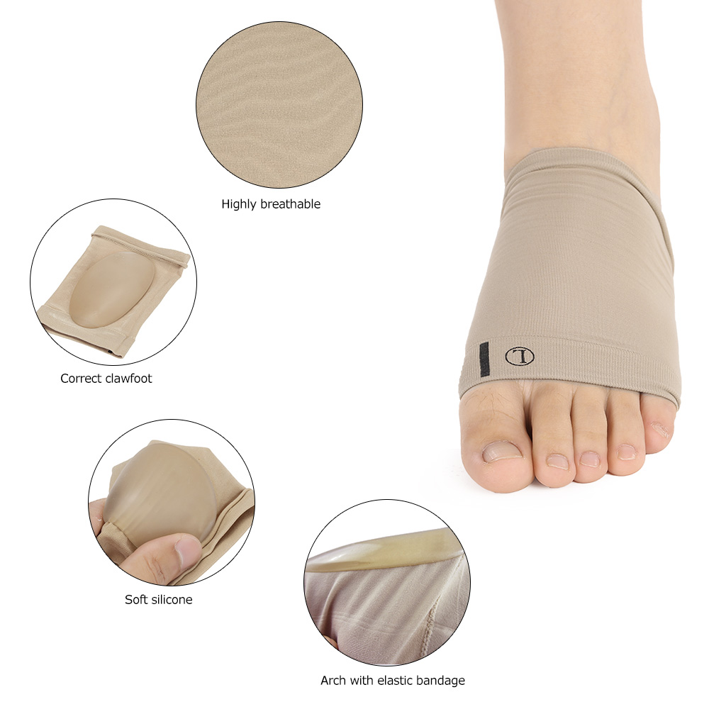 Image 2 - Arch Support Orthotic Plantar Fasciitis Cushion Pad Sleeve Heel Spurs Flat Feet Orthopedic Pad Correction Insoles Foot Care Tool-in Foot Care Tool from Beauty & Health