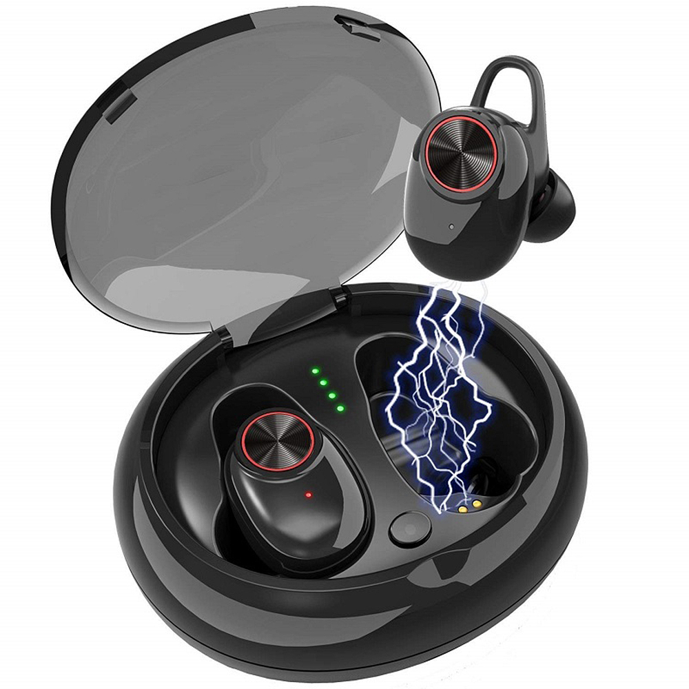 TWS Bluetooth 5.0/4.2 Earphones Cordless In Ear Earbuds Wireless Headsets Stereo Mini Earpieces with Portable Charging Box