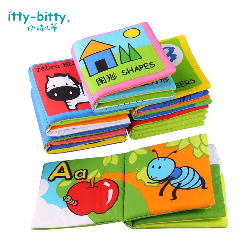 6 pcs  Baby Cloth Book Infant Soft Children Toys Chinese and English Early Childhood Educational Family Books For Kids Study