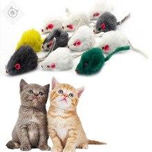 SUPERDOG 5Pcs/Set Funny Rabbit Fur False Mouse Pet Cat Toys Mini Playing For Cats Kitten Accessories