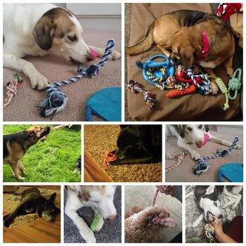 Ensemble de 12 jouets pour chien 100% coton