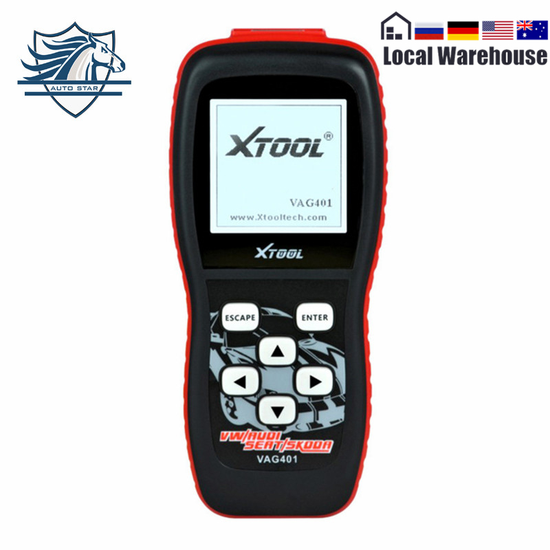 Top Selling 100% Original XTool 401 For VAG Engine Transmission Airbag ABS OBD2 Codes Auto Diagnostic Scanner Free Shipping