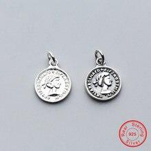 Женские шармы uqbing круглые бусины из 100% серебра 925 пробы
