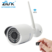 ZILNK 720P 960P 1080P Wireless Bullet IP Camera 2 0MP WiFi CCTV Night Vision SD Card
