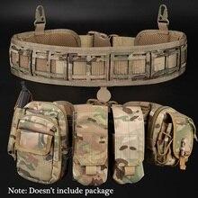 (Tático) cintura cinto resistente à água ajustável treinamento cintura suporte para molle sistema