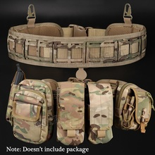 (Tactical) Waist Belt Water Resistant Adjustable Training Waistband Support For Molle System