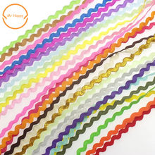 5mm S Shape Curve Wavy Lace Trim Ribbon For Costume Hat curtain pillow Decoration Handmade DIY Sewing Crafts(China)