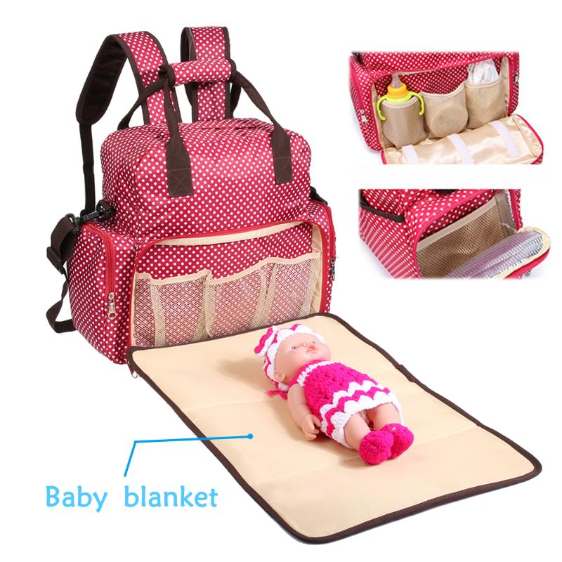 Baby Diaper Bag Multi-functional Large Capacity Mommy Bag Waterproof Maternity Backpack Nursing Bag Diaper Oganizer Mom Handbag