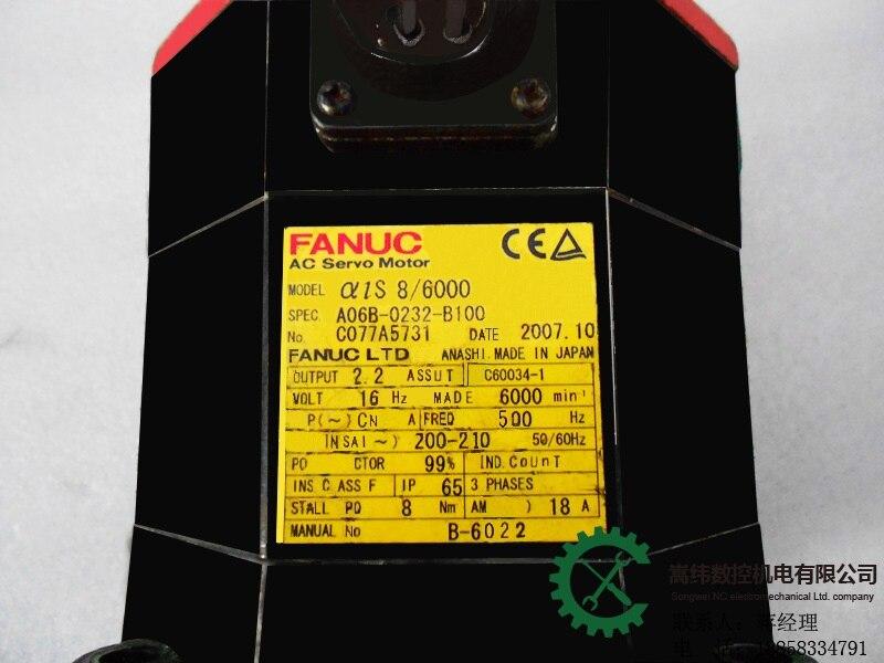 Fanuc Серводвигатель Alpha 8/6000 A06B 0232 B100 с датчиком для продажи и ремонт