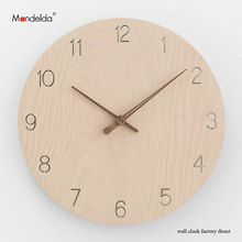 Mandelda Official Online Wall Clock Shop Near Me 12 Lightweight Fine Finish Waterproof Bedroom clock Movement Silent