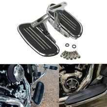 цена на Motorcycle Chrome/Black  Passenger Foot Floor board For Harley Touring Road Street  Electra Glide 93-Up