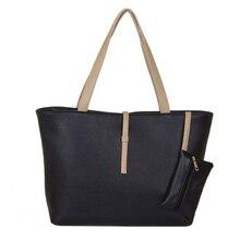 Hot New! Cuir synthétique de Femmes en cuir sac à main grand sac à main + Porte-Monnaie sac/femelle EN CUIR d'épaule sac J12 Livraison Gratuite