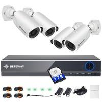 DEFEWAY 1080 P 2000TVL HD домашняя камера безопасности системы 4CH CCTV товары теле и видеонаблюдения DVR комплект AHD 4 камера с г 1000 г Жесткий Стик