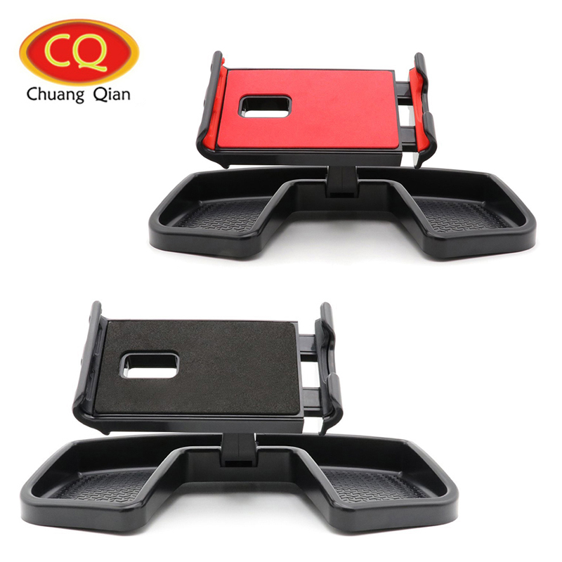 Chuang Qian Car Hodler Mobile Phone Holder Stand Mount for Jeep Renegade Cell Phone GPS Bracket Kit with Storage Organizer Box universal cell phone holder mount bracket adapter clip for camera tripod telescope adapter model c