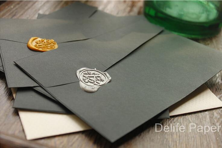 5pcs/lot Cool Vintage Black Series DIY Multifunction Envelope Set Nice Gift Envelopes
