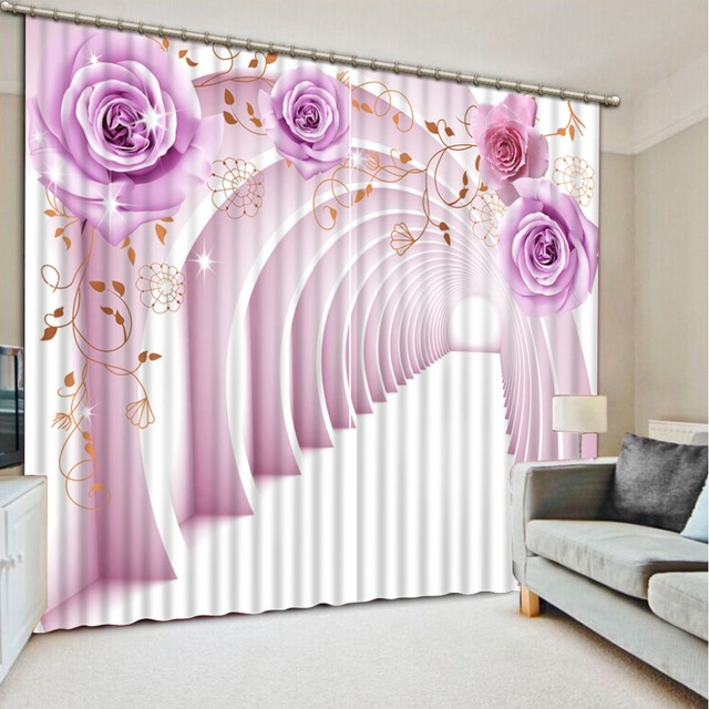 blackout bedroom curtains. Blackout Curtains For The Bedroom Painting Photo expand space 3D  purple rose