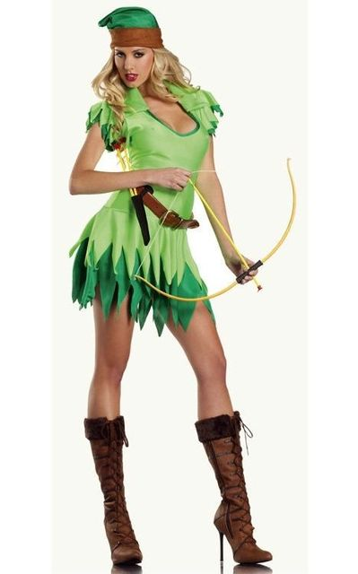 Peter Pan To Robin Hood Costume Sexy Green Halloween Costume for Women include Hat  sc 1 st  AliExpress.com & Peter Pan To Robin Hood Costume Sexy Green Halloween Costume for ...
