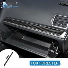 Airspeed для Subaru Forester 2013-, аксессуары, LHD углеродное волокно, автомобильная центральная консоль, коробка для хранения, наклейка, внутренняя отделка